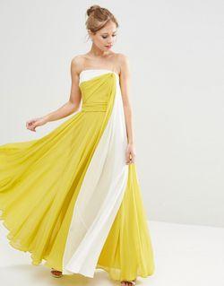 Платье Макси В Стиле Колор Блок На Asos                                                                                                              многоцветный цвет