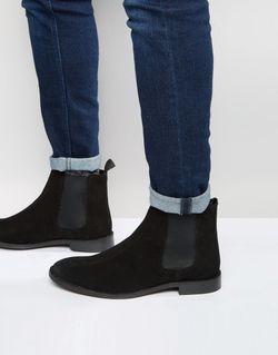 Замшевые Ботинки Chelsea Черный Asos                                                                                                              черный цвет