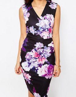 Платье-Футляр С Запахом И Цветочным Принтом Erin Jessica Wright                                                                                                              многоцветный цвет