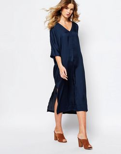 Платье-Туника Темно-Синий First & I                                                                                                              синий цвет