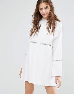 Платье Мини С Длинными Рукавами Rodeo Show Stevie May                                                                                                              белый цвет