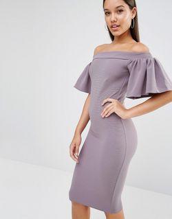Платье Миди С Оборкой Серый Oh My Love                                                                                                              серый цвет