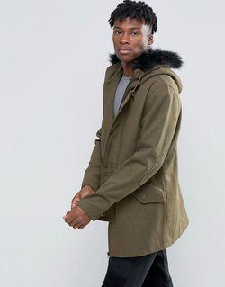 Wool Blend Jacket D-Struct                                                                                                              зелёный цвет