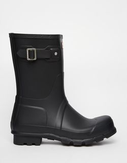 Короткие Резиновые Сапоги Original Черный Hunter                                                                                                              чёрный цвет
