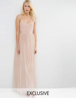 Платье Макси Giselle Ballet Rose Beige Needle & Thread                                                                                                              бежевый цвет