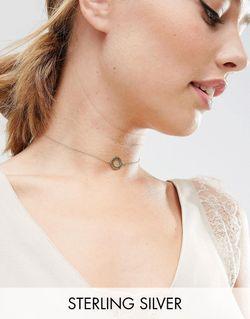 Ожерелье-Чокер Из Позолоченного Серебра С Филигранными Дисками Asos                                                                                                              None цвет