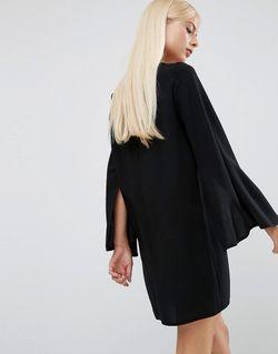 Цельнокройное Платье С Расклешенными Рукавами Asha FOREVER UNIQUE                                                                                                              черный цвет