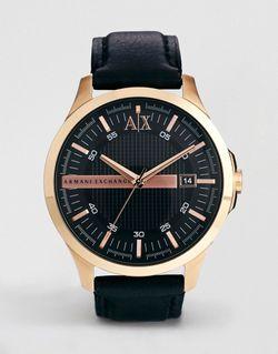 Часы С Черным Кожаным Ремешком Ax2129 Черный ARMANI EXCHANGE                                                                                                              чёрный цвет