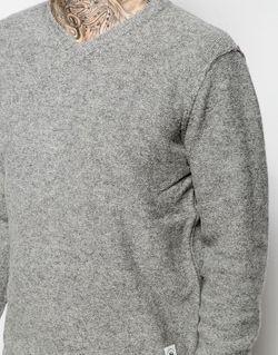 Меланжевый Джемпер С V-Образным Вырезом Серый Bellfield                                                                                                              None цвет