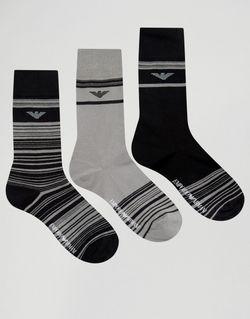 3 Пары Носков В Подарочной Упаковке Emporio Armani                                                                                                              чёрный цвет