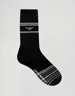 3 Пары Носков В Подарочной Упаковке Emporio Armani                                                                                                              черный цвет