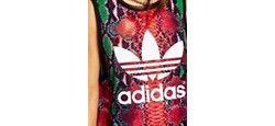 Облегающая Майка С Трилистником И Принтом Под Adidas                                                                                                              многоцветный цвет