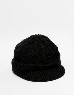 Черная Вытянутая Шапка Черный Asos                                                                                                              чёрный цвет