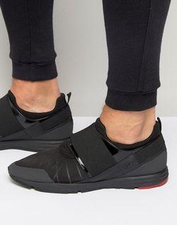 Кроссовки С Эластичными Вставками Runner Черный HUGO BOSS                                                                                                              черный цвет