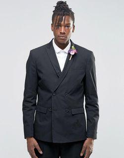 Пиджак С Добавлением Хлопка И Льна Wedding Selected                                                                                                              черный цвет