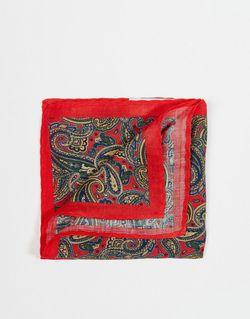 Платок Для Нагрудного Кармана С Принтом Пейсли Selected Homme                                                                                                              красный цвет