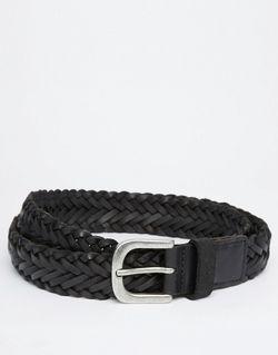 Плетеный Ремень Jack Jones Jack & Jones                                                                                                              чёрный цвет