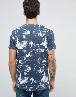 Solid All Over Print T-Shirt Темно-Синий !Solid                                                                                                              None цвет