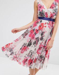 Короткое Приталенное Платье С Цветочным Принтом И ASOS TALL                                                                                                              None цвет