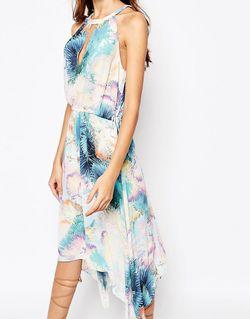 Платье Миди С Пальмовым Принтом Keelie BCBGMAXAZRIA                                                                                                              None цвет
