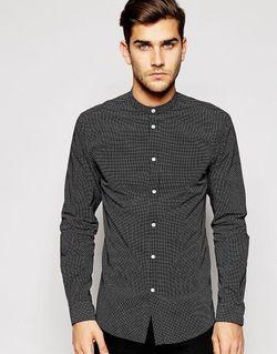 Рубашка Узкого Кроя В Горошек Jack Jones Jack & Jones                                                                                                              чёрный цвет