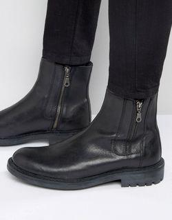 Кожаные Ботинки С Двумя Молниями Maida Vale WALK London                                                                                                              черный цвет