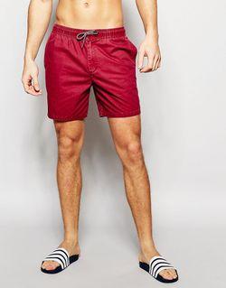 Шорты Для Плавания С Эффектом Кислотной Стирки Hollister                                                                                                              красный цвет