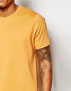Футболка Свободного Кроя С Круглым Вырезом Asos                                                                                                              Желтый цвет