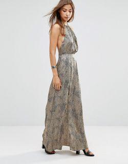Леопардовое Платье Макси С Открытой Спинкой Projection WYLDR                                                                                                              многоцветный цвет
