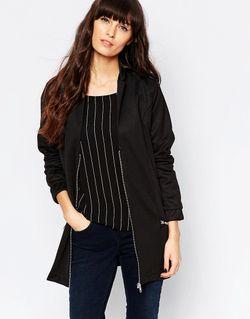 Удлиненная Куртка-Пилот 999 Черный Minimum                                                                                                              чёрный цвет