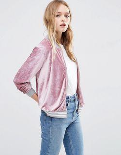 Вельветовая Куртка-Пилот Розовый Asos                                                                                                              розовый цвет