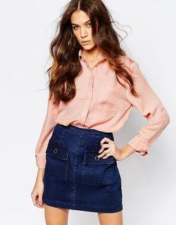 Блузка С Двумя Карманами Телесный Neon Rose                                                                                                              Телесный цвет