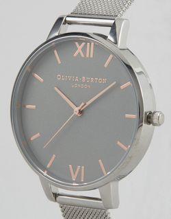 Часы С Сетчатым Ремешком Ob15bd80 Серебряный Olivia Burton                                                                                                              None цвет