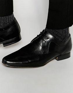 Черные Кожаные Туфли Дерби Черный Frank Wright                                                                                                              чёрный цвет