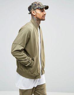 Куртка-Пилот С Присборенными Рукавами Хаки Granted                                                                                                              хаки цвет