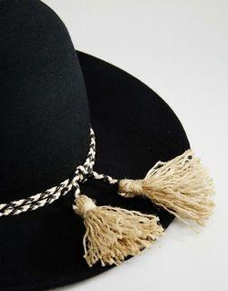 Черная Фетровая Шляпа С Широкими Полями Черный Brixton                                                                                                              черный цвет