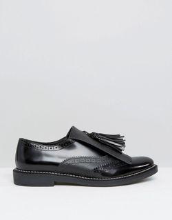 Кожаные Туфли На Плоской Подошве Mariella Premium Asos                                                                                                              черный цвет
