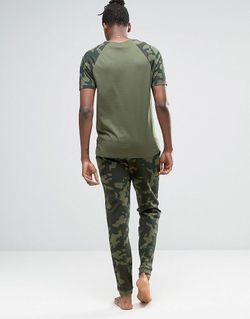 Loungewear Skinny Joggers In Camo Print Asos                                                                                                              зелёный цвет