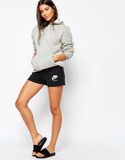 Винтажные Шорты Мини Серый Меланж Nike                                                                                                              серый цвет