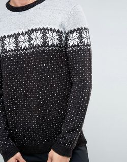 Jumper With Snowflake Chest Asos                                                                                                              серый цвет