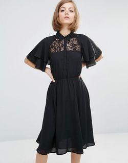 Платье-Рубашка Черный LOST INK                                                                                                              черный цвет