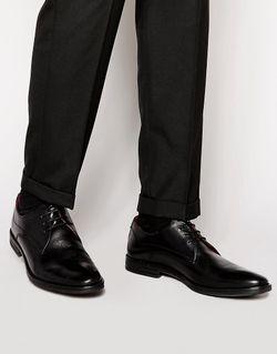 Кожаные Туфли Дерби Base London Bayham Base London                                                                                                              чёрный цвет