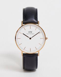 Черные Классические Большие Часы С Отделкой Из Daniel Wellington                                                                                                              чёрный цвет