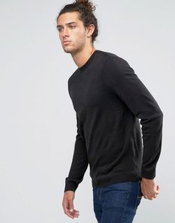 Crew Neck Jumper In Black Черный Asos                                                                                                              None цвет