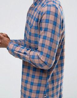Сине-Оранжевая Рубашка В Клетку Paul Smith Оранжевый PS PAUL SMITH                                                                                                              None цвет
