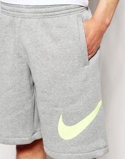 Трикотажные Шорты С Логотипом-Галочкой Nike                                                                                                              серый цвет
