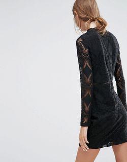 Черное Кружевное Платье Adder Love & Lies                                                                                                              None цвет
