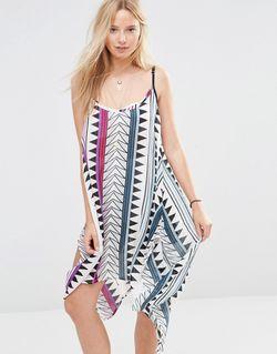 Пляжное Платье Мини С Принтом Мульти Anmol                                                                                                              многоцветный цвет