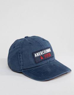 Темно-Синяя Кепка Abercrombie Fitch Collegiate Темно-Синий Abercrombie and Fitch                                                                                                              None цвет