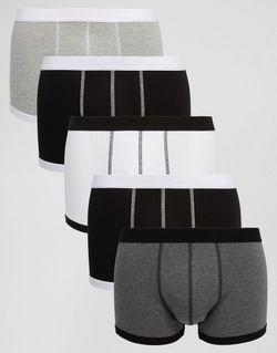 Комплект Из 5 Пар Монохромных Боксеров-Брифов С Asos                                                                                                              многоцветный цвет